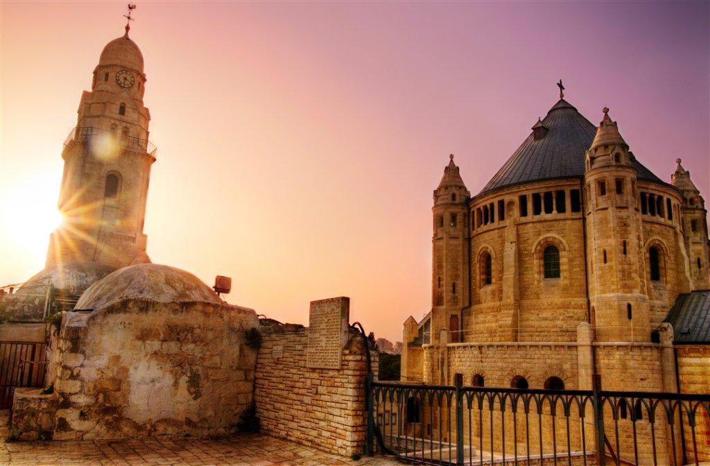 Dormition Abbey at Sunset