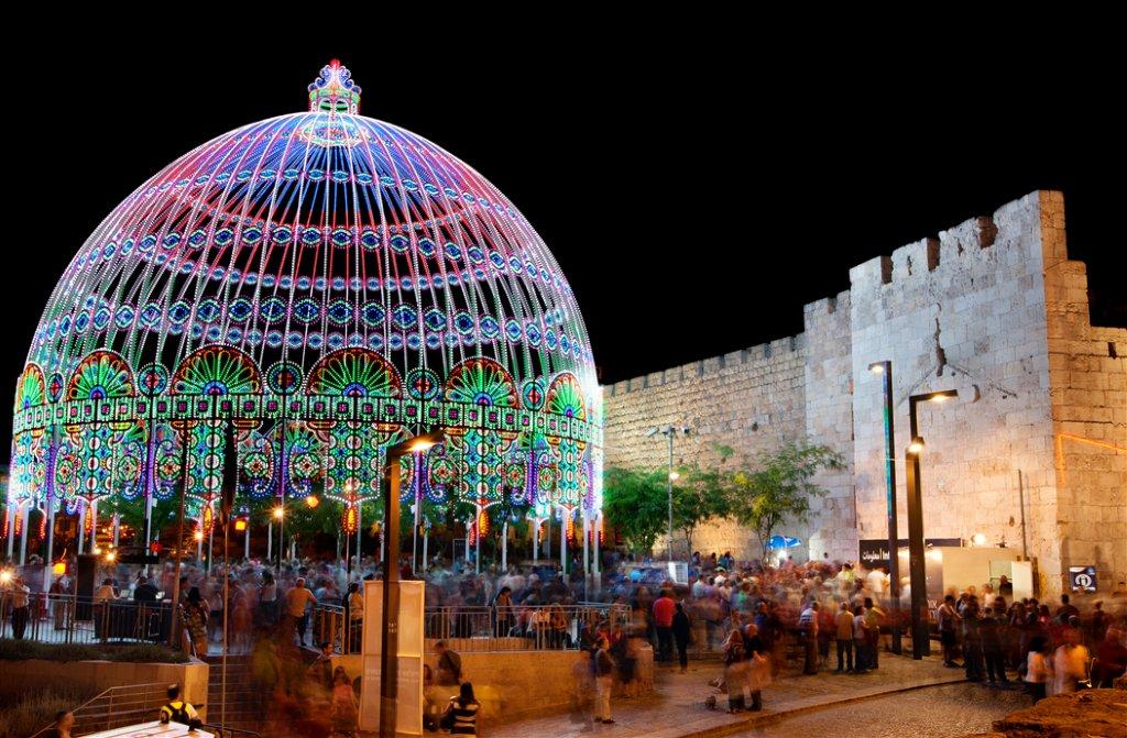 The Jaffa Date During the Jerusalem Light Festival