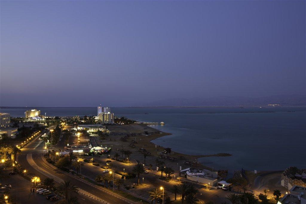 The Dead Sea Hotels Area at Night​