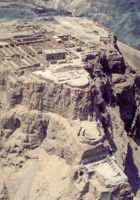 Masada: View of Herod's 3-tiered Northern Palace