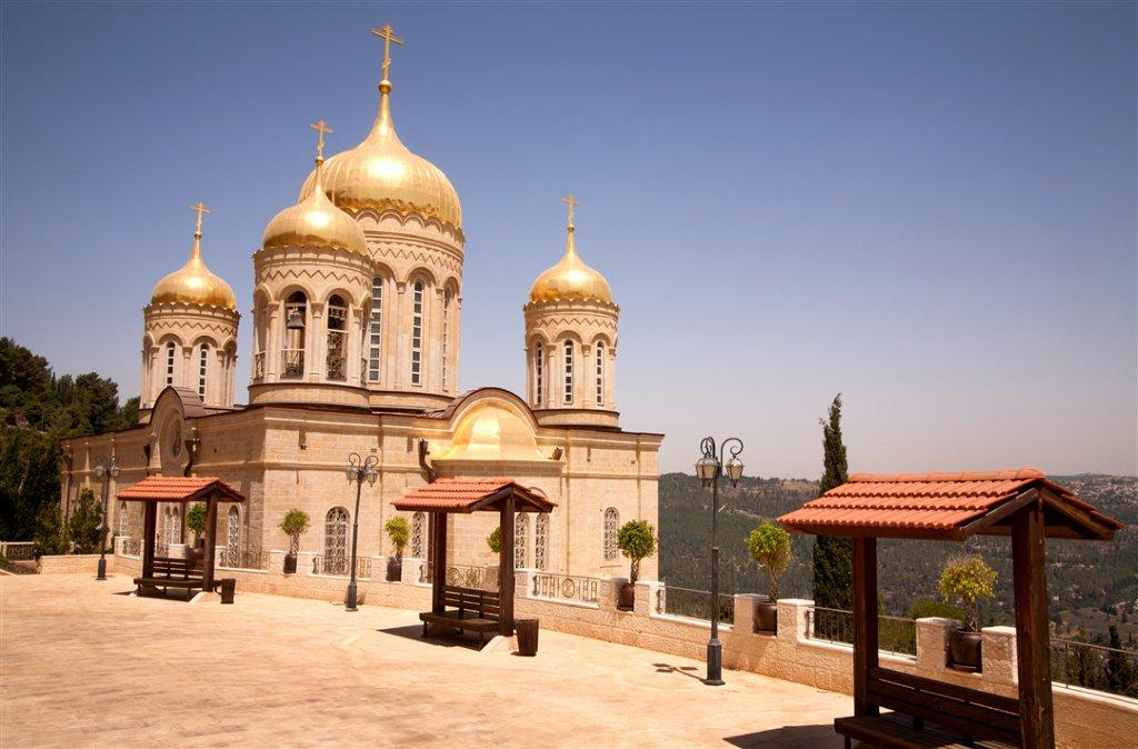External View of the Russian Orthodox Church in Ein Karem