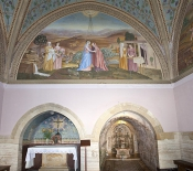 Inside the Church of the Visitation in Ein Kerem