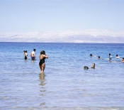 Dead Sea: Wading into and Floating on the Briny Waters