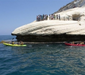 Rosh Hanikra: Kayaks used to Visit the Grotto from the Sea